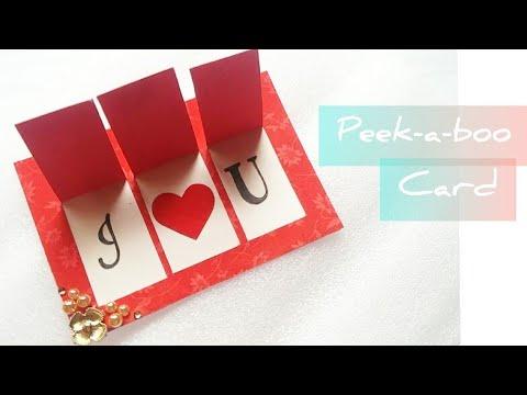 Peek-a-boo card/handmade card idea/Greeting card lasted design handmade 2019/paper card idea/popup❤