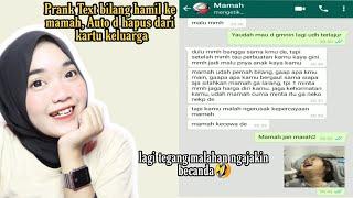 Download lagu PRANK TEXT BILANG HAMIL KE MAMAH AUTO DI HAPUS DARI KARTU KELUARGA |