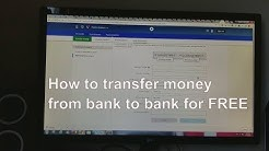 How to transfer money from bank to bank for FREE.