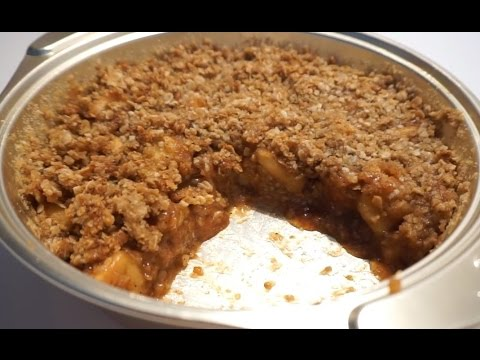 HEALTHY APPLE CRUMBLE WITH OATS BY CRAZY HACKER
