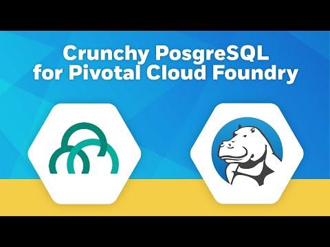 Crunchy PostgreSQL for PCF