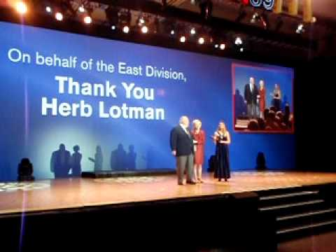 Herb Lotman recieves award from McDonalds