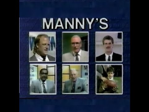 1989 DAVE CORZINE, TOM THAYER, RAY MEYER shop at MANNY's (Chicago TV commercial)