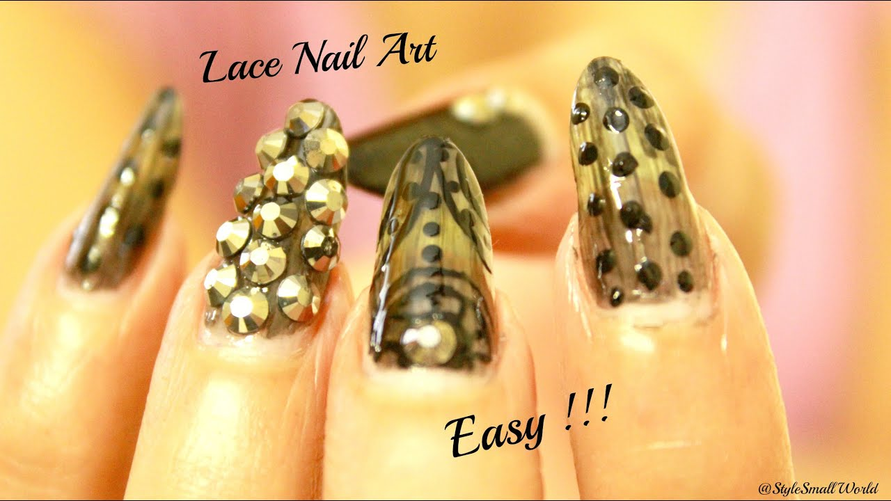 Elegant Black Lace Nail Art Designs Tutorial How To Do Lace Nails