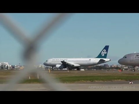 Air New Zealand A320-232 [ZK-OJK] - Departure from Sydney - 18 July 2014