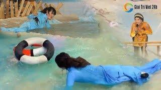 """Ngọc nữ lô tô Tâm Thảo với cú """"té nước"""" khiến Su Su cười muốn """"lọt cầu"""""""