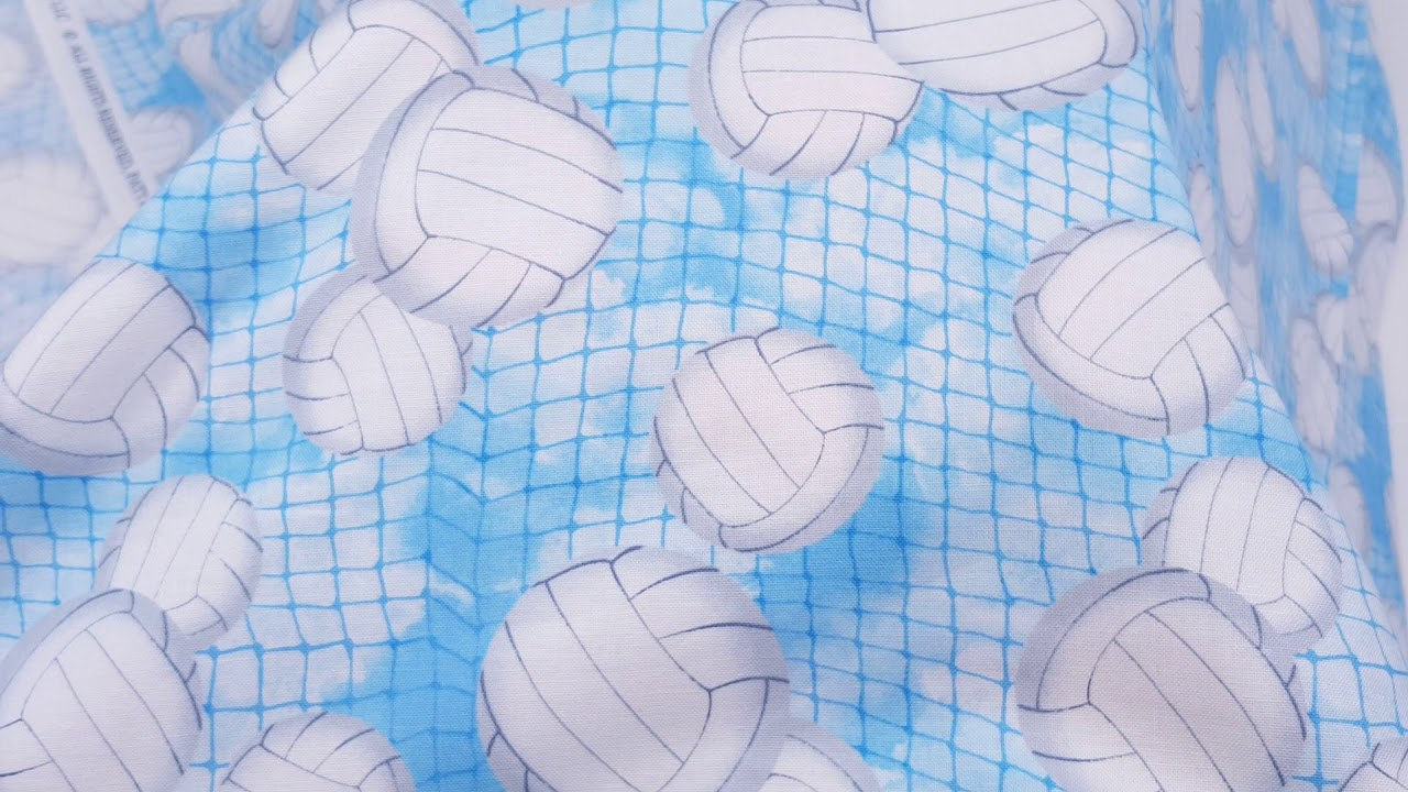 Timeless Treasures Volleyball Blue Choose your cut of fabric in the drop down menu Sports