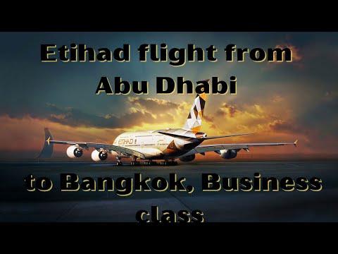 Etihad flight from Abu Dhabi (AUH) to Bangkok (BKK), Business class.