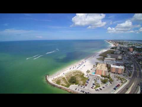 Madeira Beach Florida John's Pass Village Drone Flight