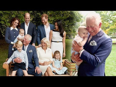 Prince Charles beams with pride playing with grandson Louis in series of never-before-seen photos
