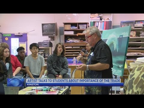 N.C. artist shares passion for arts at Kinston school visit