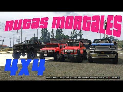 GTA5 RUTAS MORTALES 4X4 ATRAVEZANDO EL MONTE CHILIAD