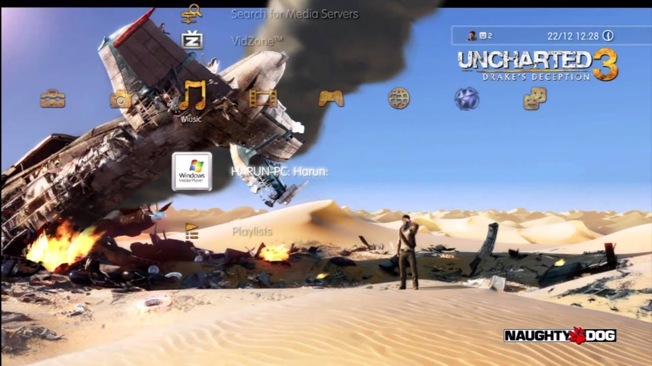 Uncharted 3: Dynamic Theme HD-Quality (PS3) - YouTube