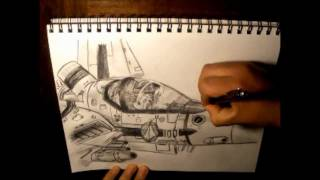 How to Draw Challenge: The Eighth - Valkyrie VF-1S - Hikaru Ichijo