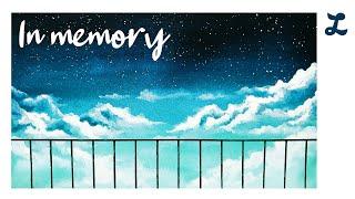 '기억 속에서' 하늘 수채화 일러스트 _…