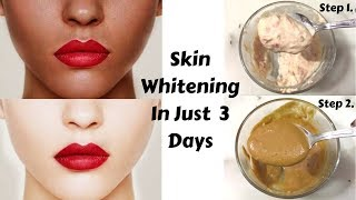 Get Fair Skin In Just 3 Days | Homemade Skin Whitening Scrub & Mask | Home Remedies