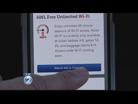 Travelers can now enjoy free Wi-Fi at Honolulu airport
