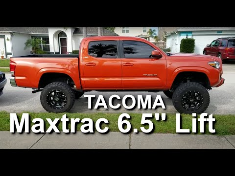 Toyota Tacoma Lifted >> 2016 Tacoma Maxtrac 6.5 Lift - YouTube