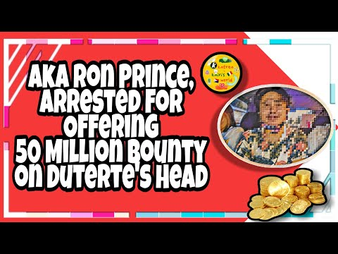 Aka Ron Prince Who Offered 50 Million Bounty On PRRD'S Head, Busted!