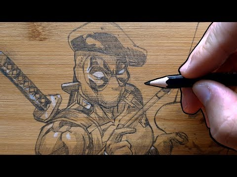 asmr-|-bamboo-pencil-drawing-|-deadpool