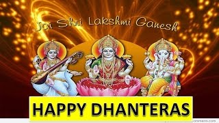 Dhanteras Best wishes Happy Dhanteras 2020 Video Greetings