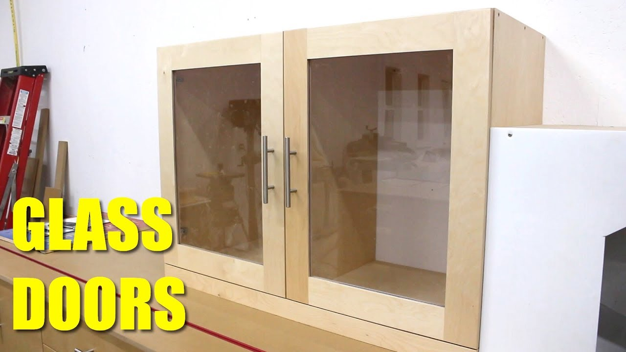How To Make Glass Cabinet Doors Youtube