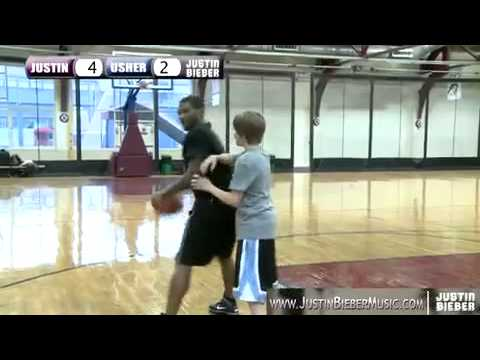 Justin Bieber n Usher play One on One Basketball in NYC