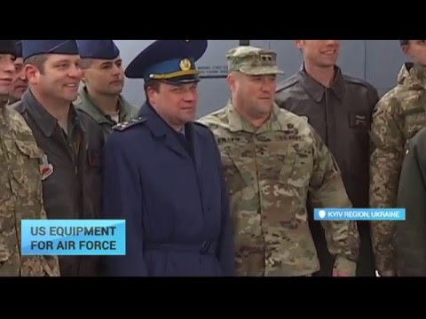US Equipment for Ukraine: US presents Ukrainian Air Force pilots with latest military tech