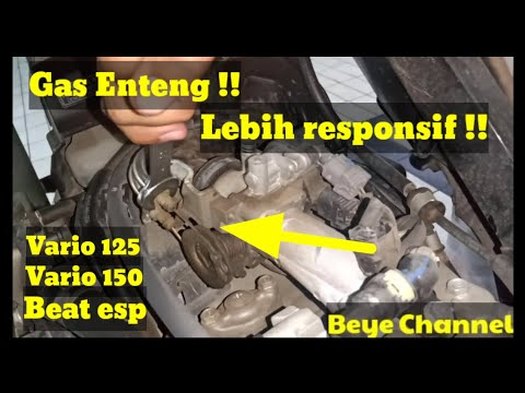 Trik Meringankan Tarikan Gas Vario 150 Beat Esp #beat #vario