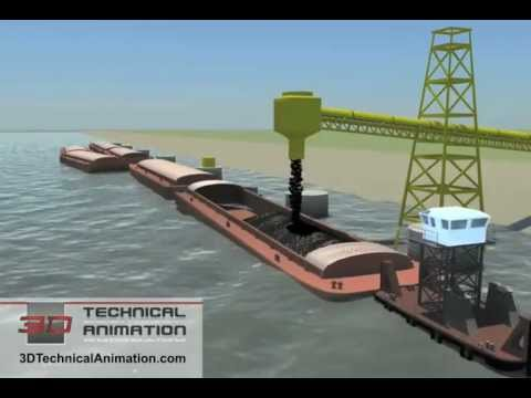 3D Technical Animation - Barge Operation