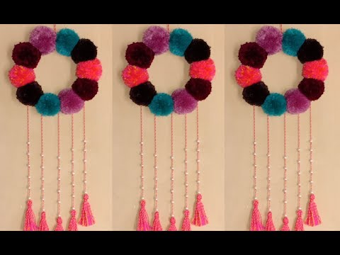 DIY HOW TO MAKE ORNAMENT ROOMS FROM POM POM