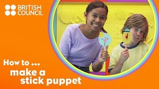 How to make a stick puppet