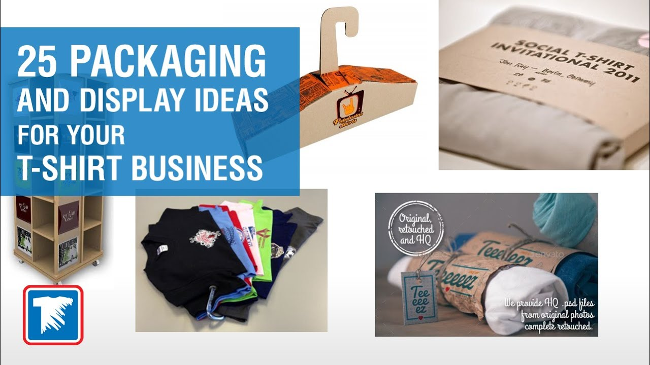 25 innovative creative and fun packaging and display ideas for your t shirt business youtube. Black Bedroom Furniture Sets. Home Design Ideas