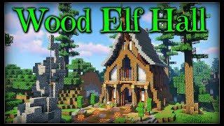 Minecraft Timelapse Wood Elf Hall YouTube