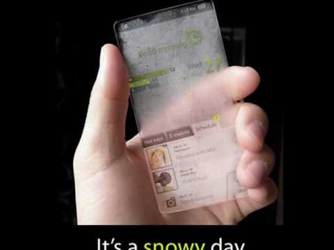 Windows Weather Responsive Mobile  - Window Concept Phone Facade Changes According to the Forecast