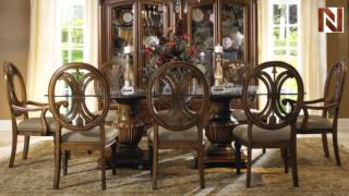 Fairmont Empire Dining Set With Curio