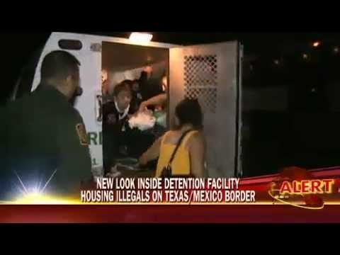 Inside A Detention Facility Housing Illegal Immigrants