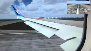 FS2004 ANA Boeing 767-300 (Winglet) Tokyo(Haneda) to Taipei(Songshan)