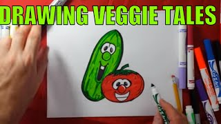 Veggie tales drawing Bob and Larry the cucumber