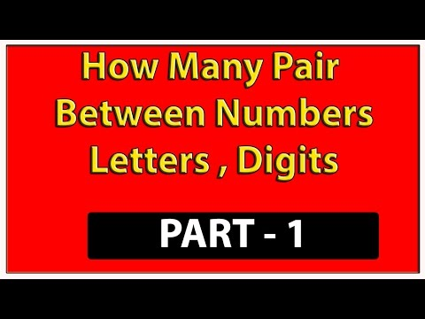 How many such pairs of digits are there in BETWEEN  the number- PART - 1 (Reasoning)
