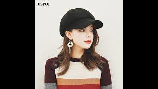 Женский шерстяной берет uspop однотонная восьмиугольная кепка в британском стиле ретро плотная