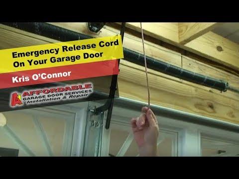 Emergency Release Cord On Your Garage Door Youtube
