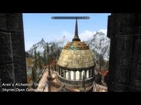 Aren's Alchemist Shack & Skyrim Open Cathedral - Skyrim House Mods