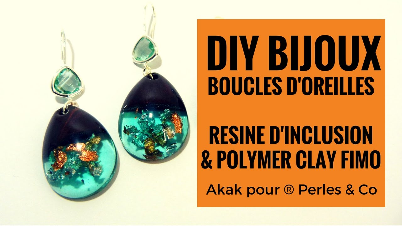tuto diy fimo cr er des boucles d 39 oreilles et bijoux en r sine d 39 inclusion et p te polym re. Black Bedroom Furniture Sets. Home Design Ideas