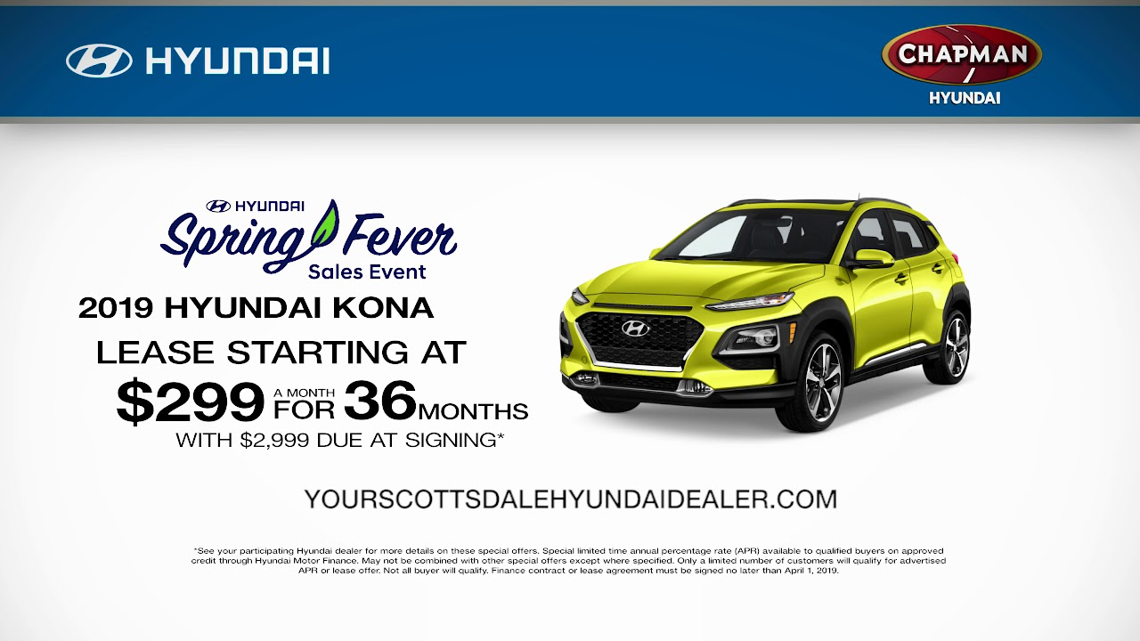 Chapman Hyundai Scottsdale >> Chapman Hyundai Scottsdale March 2019 Offers
