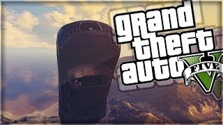 gta 5   jumping over the army base gta v online funny moments