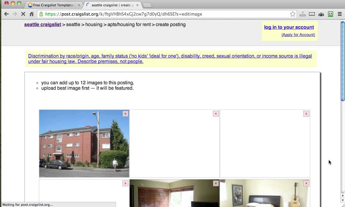 Posting to craigslist using tourvistas new real estate for Craigslist real estate ad templates