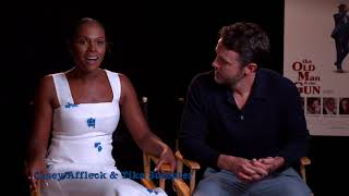 The Old Man & the Gun Interview Casey Affleck & Tika Sumpter