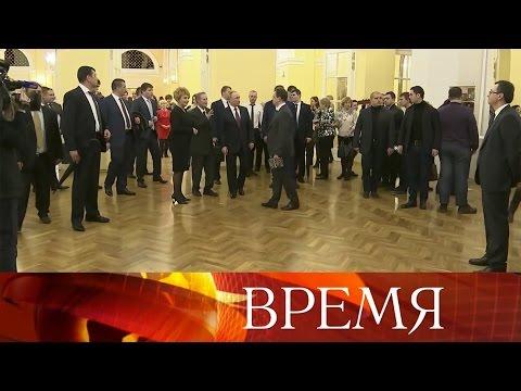 Владимир Путин посетил Государственный академический Малый театр.