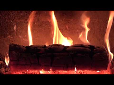 Yule log 🔥 Fireplace & Christmas music (guitar) with Crackling Fire Sounds